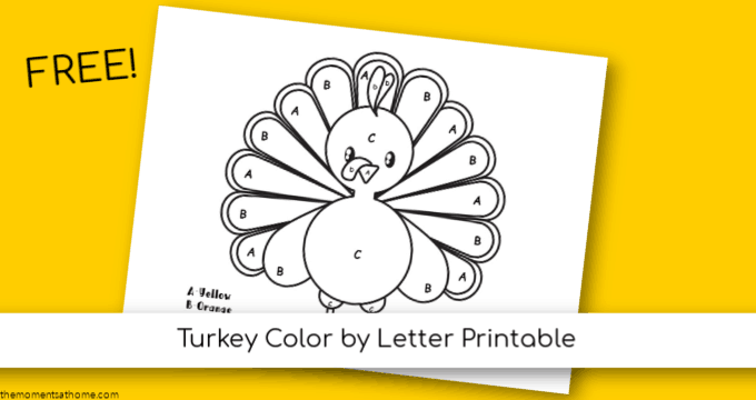 Turkey printable for kids. #preschool #freeprintables #turkeyprintable