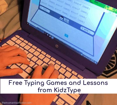 Free typing games for kids from KidzType.