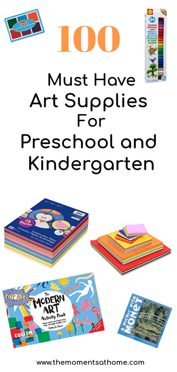100 Things Art Supplies for Kids