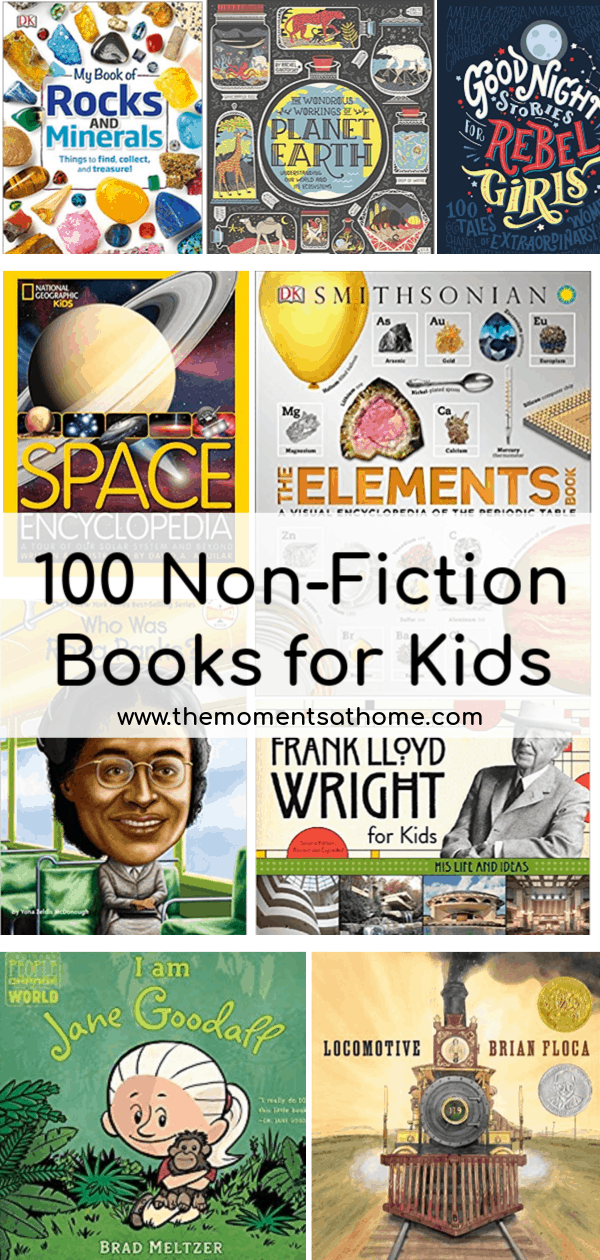 100 Must read non-fiction books for kids. #childrensbooks #booksforkids #educationalactivities
