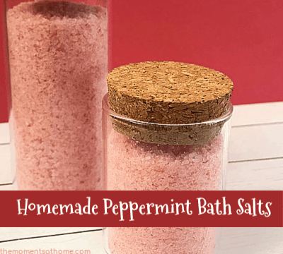 DIY Gift Ideas Peppermint Bath Salts