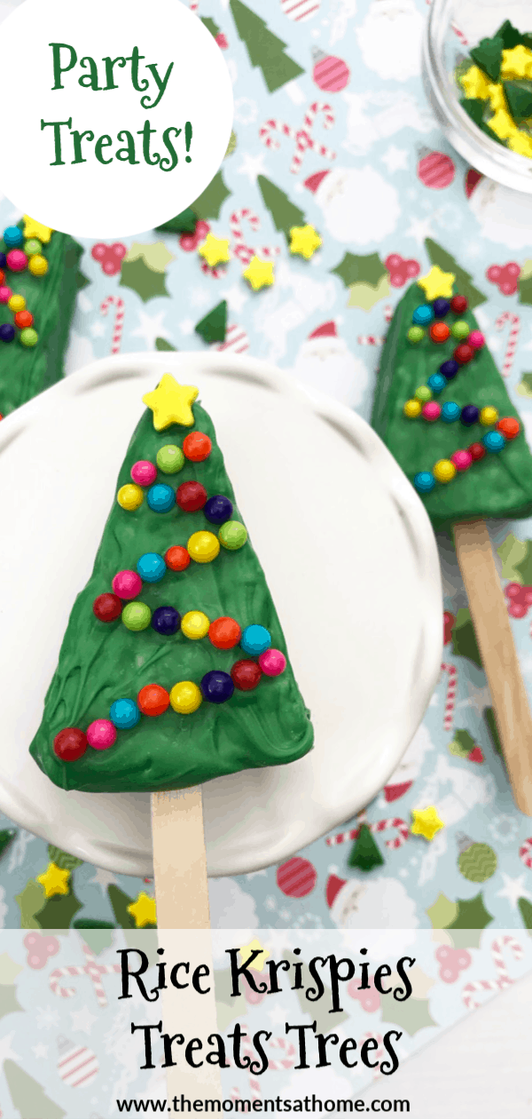 Rice Krispies Christmas Trees recipe. Christmas party treats.