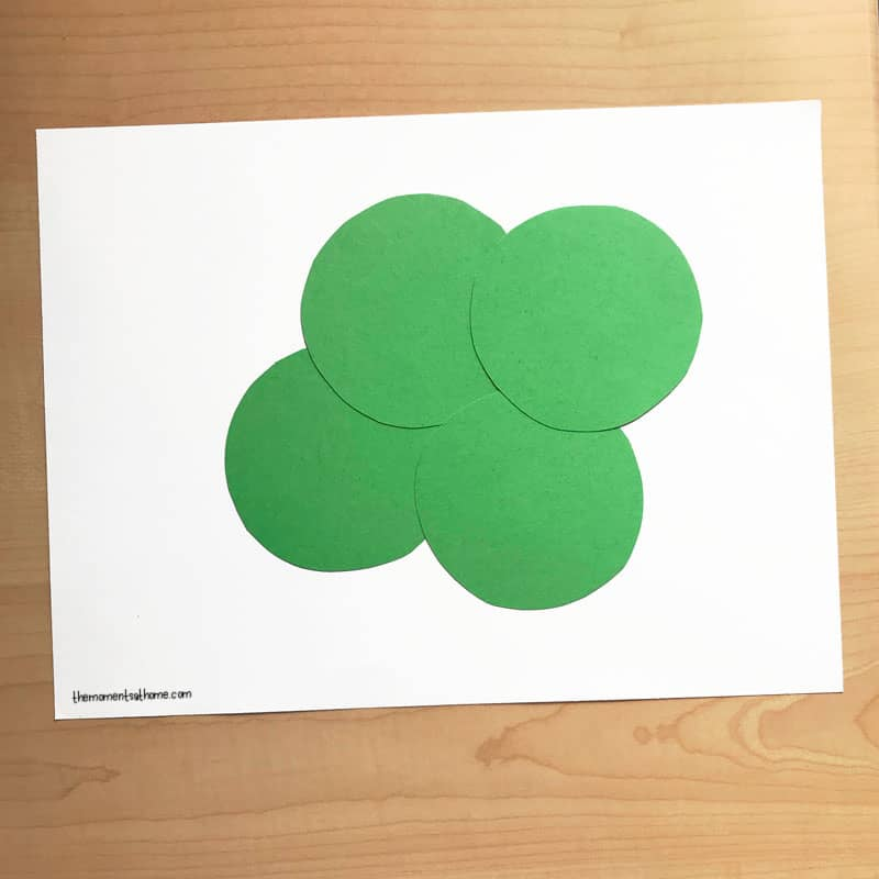 Shamrock craft for kids.