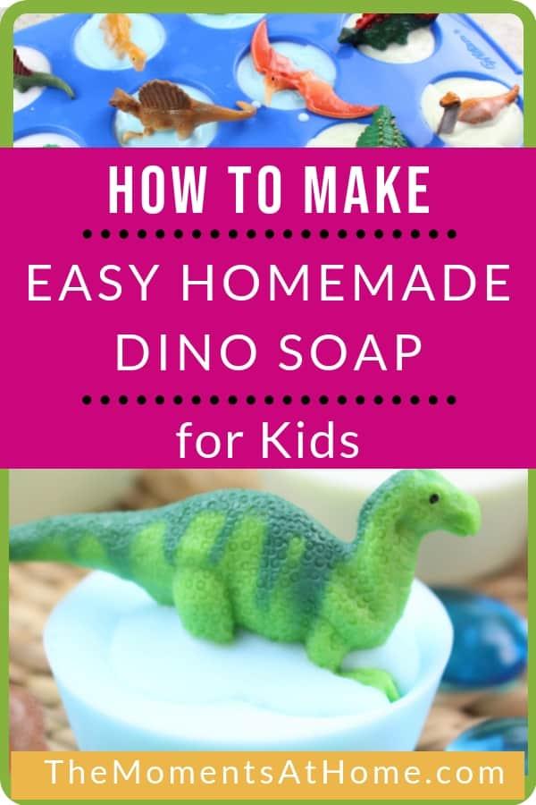 How to make easy dinosaur homemade soap recipe for kids