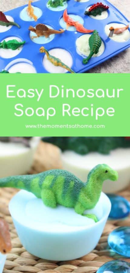Easy dinosaur soap recipe. #dinosaurs