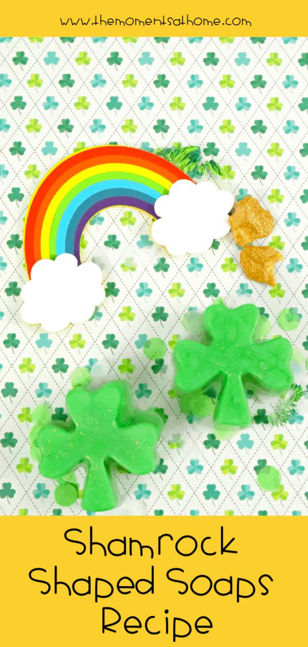 Easy St .Patrick's Day Soap Recipe. #stpatricksday