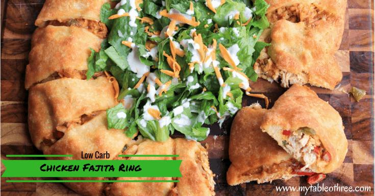 Chicken Fajita Ring || Low Carb , THM