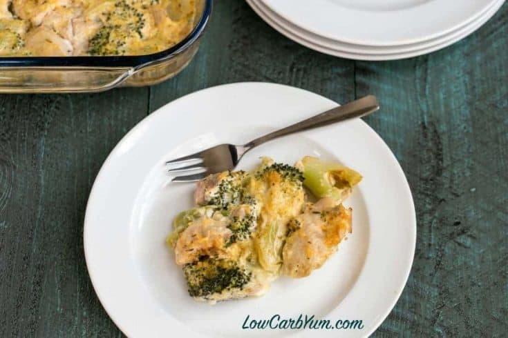 Chicken Divan Casserole - Low Carb Chicken Broccoli