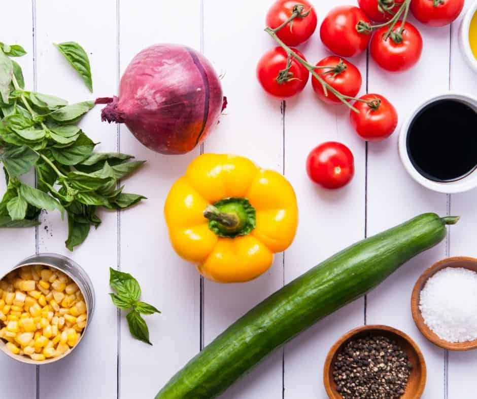 summer corn salad ingredients