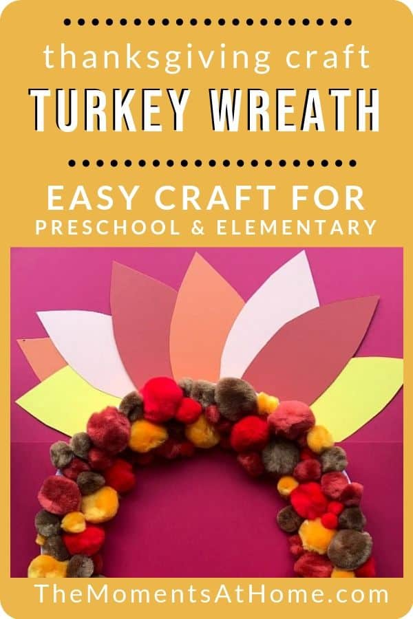 Fun Easy Paper Plate Craft For Kids Thanksgiving Turkey Wreath