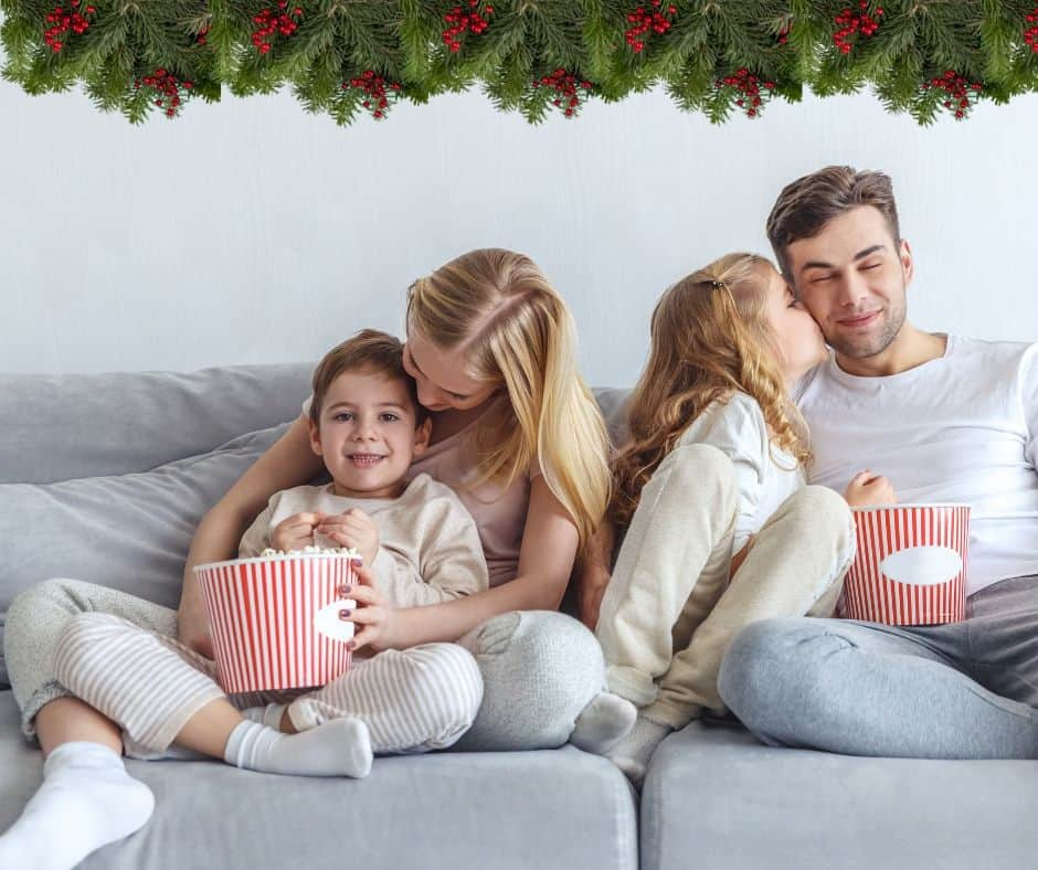 holiday family movie night is a fun tradition idea
