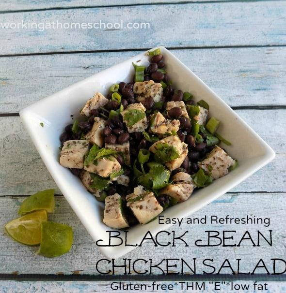 Easy Gluten Free Black Bean Chicken Salad
