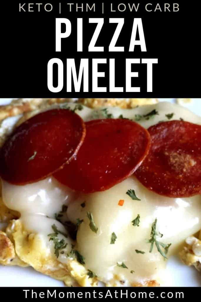 "eggs with mozzarella and pepperoni ""pizza omelet"""