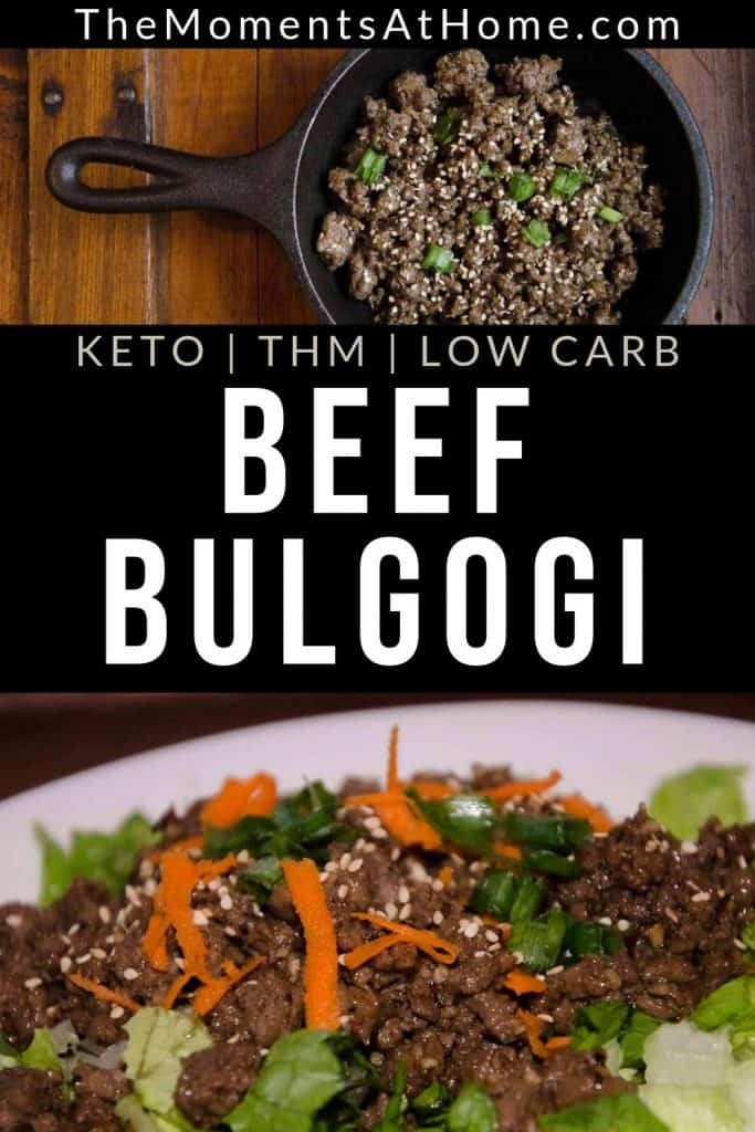 skillet and plate of Korean bulgogi with ground beef