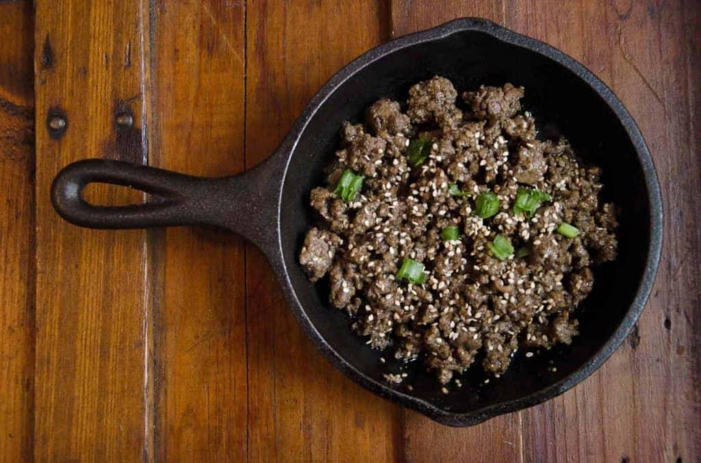 sugar free Korean beef bulgogi low carb keto