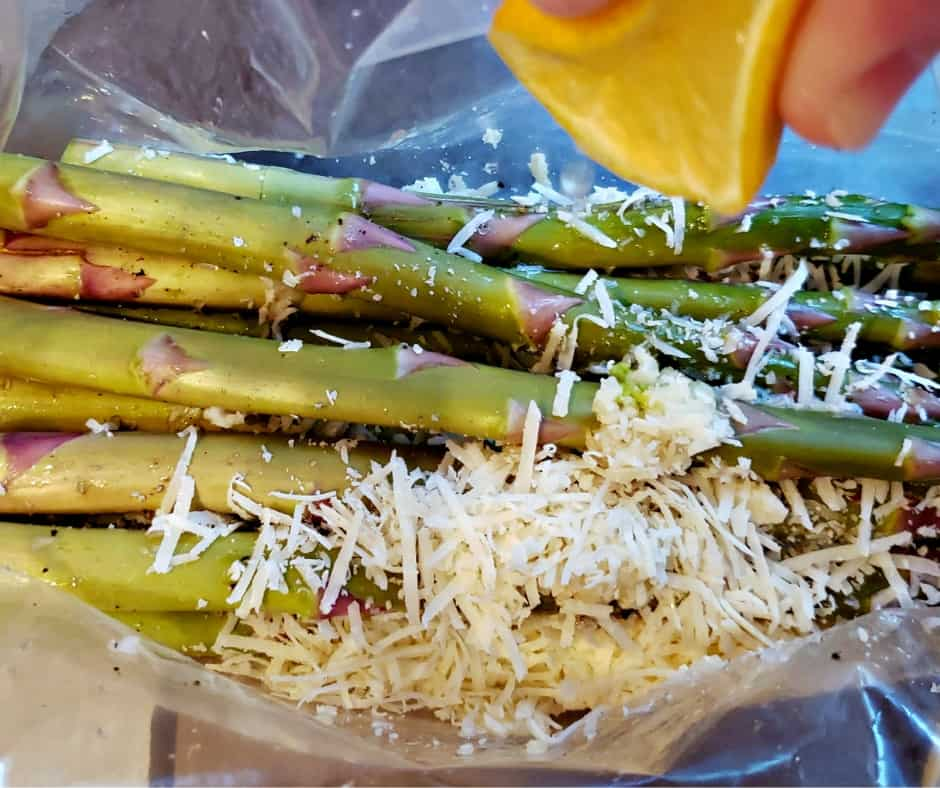 how to make lemon garlic asparagus with parmesan for a keto side dish step 1: flavor it
