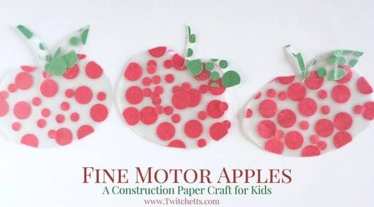 Apple Themed Fine Motor Activity